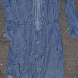 Banana Republic 6 denim shirt dress